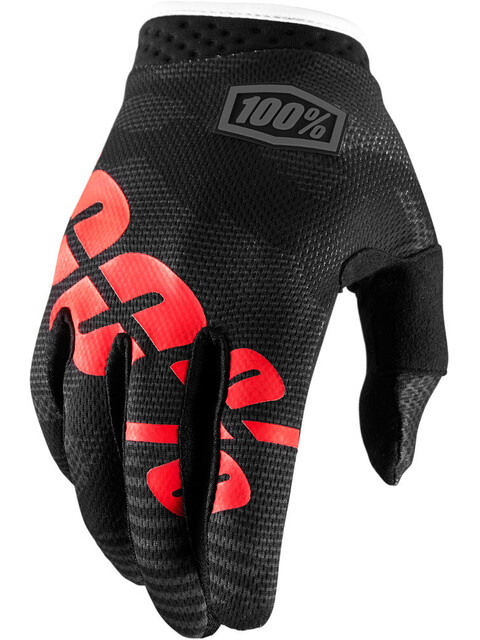 100% iTrack Gloves Youth Black Camo